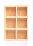 Wood shelves Royalty Free Stock Photos