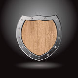 Wood shield blank light Royalty Free Stock Images