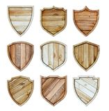Wood shield wooden texture sign background royalty free stock photography