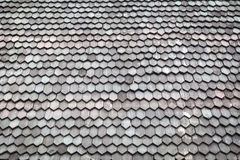 Wood shingle roof background. Wood shingle roof from thai ancient house Stock Photo