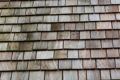 Wood Shingle Tiles Royalty Free Stock Photos