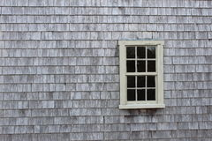 Wood shingles with window Royalty Free Stock Photography