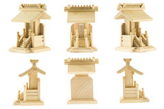 Wood shrine model RF Royalty Free Stock Images
