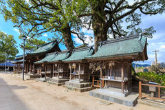 Wood shrines in Dazaifu Tenmangu area royalty free stock photography