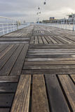 Wood sidewalk in Parque Expo,  Lisbon,  Portugal. Photo of wood sidewalk by Tejo River Stock Image
