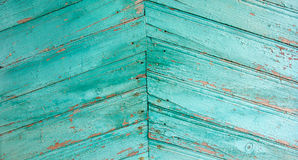Wood siding. Wood paneling old house green color Stock Image