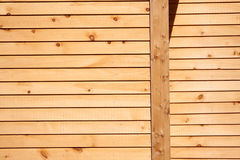 Wood siding. Plank siding on as small shed royalty free stock photography