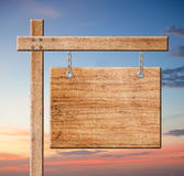 Wood sign. Royalty Free Stock Photography