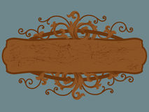 Wood sign cartouche. Illustration of an wood sign cartouche Royalty Free Stock Photos