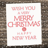 Wood sign merry christmas and happy new year Royalty Free Stock Photography