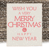 Wood sign merry christmas and happy new year Stock Photo