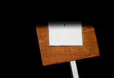 Wood Sign with Note Stock Photo