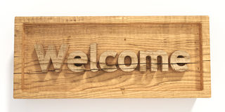 Wood sign welcome Royalty Free Stock Photo