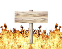 Wood Signs the Flame Royalty Free Stock Images