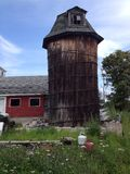 Wood silo Royalty Free Stock Images