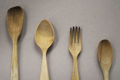 Wood silverware Royalty Free Stock Photos