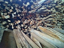 Wood simple. Jatiwood indonesian craft Stock Photo