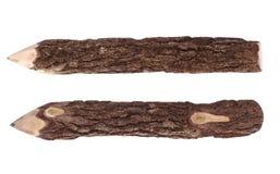 Wood skäll för blyertspenna Royaltyfri Fotografi