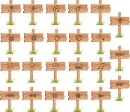Wood skärm 2 för knappar Arkivfoton