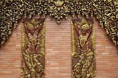 Wood skulptur Arkivbild