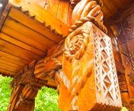 Wood skulptur Arkivfoto