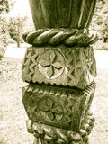 Wood skulptur Arkivfoton