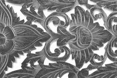 Wood skulptur för antik tappning på vit bakgrund Royaltyfri Bild