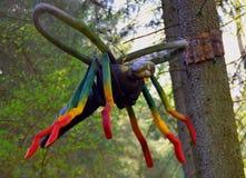 Wood skulptur för kryp Arkivfoto