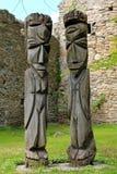 Wood skulptur i Estland Royaltyfri Fotografi
