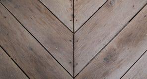 Wood slat floor with arrow shape royalty free stock image
