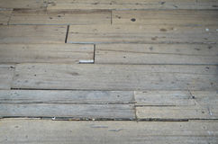 Wood slat floor Royalty Free Stock Photos
