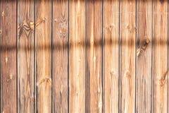 Wood slat med skuggor Royaltyfria Bilder