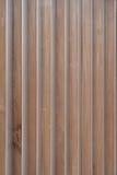 Wood Slats With Aluminum Corners Stock Photo
