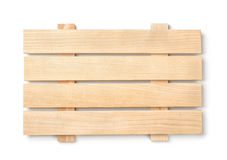 Wood slatted plank board Stock Images