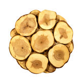 Wood slices on  white background Stock Image