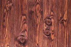 Wood slut för bakgrund för plankabrunttextur upp Arkivfoto
