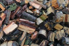 Pieces of Wood royalty free stock image