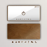 Wood smartphone Royalty Free Stock Images