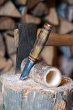 Wood snida Fotografering för Bildbyråer