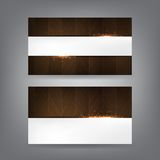 Wood and sparks theme business card template Royalty Free Stock Photos