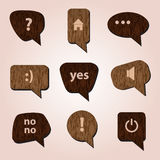 Wood speak bubbles eps10 Royalty Free Stock Images