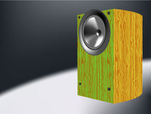 Wood speaker Stock Photo