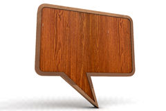 Wood speech bubble Royalty Free Stock Image
