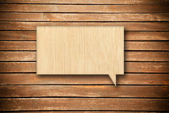 Wood speech bubble Stock Photo