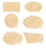 Wood speech bubbles Stock Images