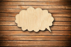 Wood speech bubbles Stock Photography