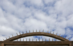 Wood spiked Fort entrance Royalty Free Stock Photo