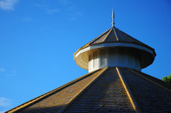 Wood spire roof Stock Image