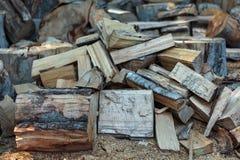 Wood split and chopped Stock Image