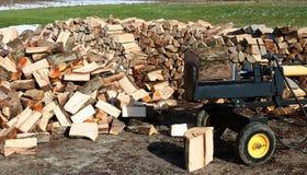 Wood splitter to split horizontally royalty free stock image